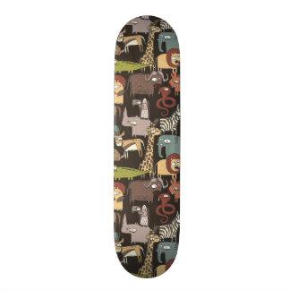Afrikanisches Tier-Muster Bedrucktes Skateboard