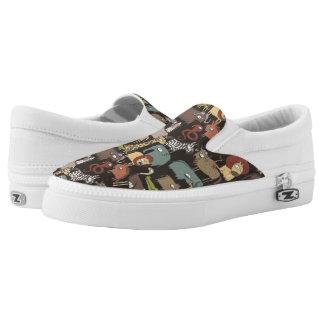 Afrikanisches Tier-Muster Slip-On Sneaker