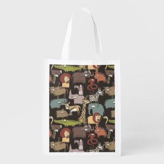 Afrikanisches Tier-Muster Wiederverwendbare Einkaufstasche
