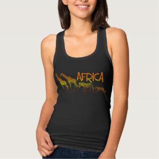 Afrikanisches Tier-Trägershirt Tank Top