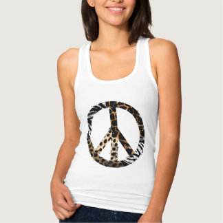 Afrikanisches Tiermuster-Friedenssymbol Tank Top