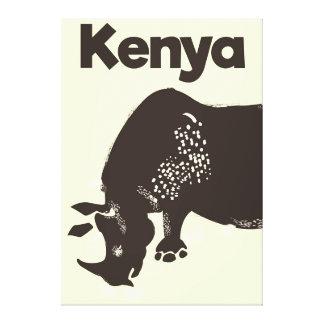 Afrikanisches Vintages Plakat KeniaRhino Leinwanddruck