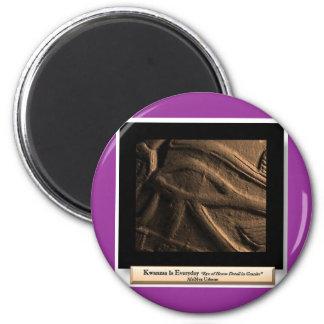 AfriMex Urbano Kwanzaa Auge Reihen-3 von Horus Runder Magnet 5,1 Cm