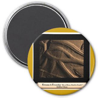AfriMex Urbano Kwanzaa Auge Reihen-3 von Horus Runder Magnet 7,6 Cm