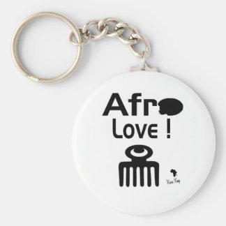 Afro-Liebe mit DUAFE Standard Runder Schlüsselanhänger