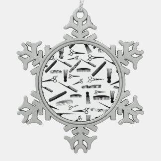 AFro-Trends Schneeflocken Zinn-Ornament