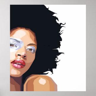 Afro-zentrales Plakat