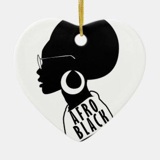 AFROAfroamerikaner-Schwarzgeschenkt-shirt Keramik Ornament