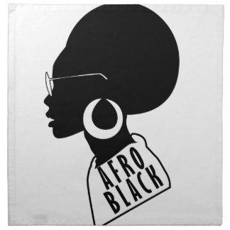 AFROAfroamerikaner-Schwarzgeschenkt-shirt Stoffserviette