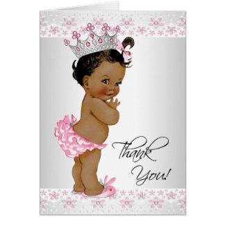 Afroamerikaner-Baby-Dusche danken Ihnen Karte