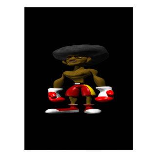 Afroamerikaner-Boxer Postkarte