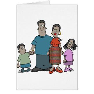 Afroamerikaner-Familie Karte