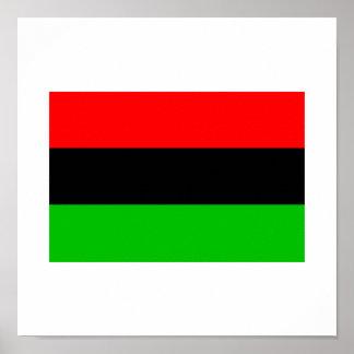 Afroamerikaner-Flagge Poster