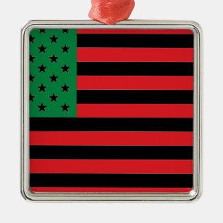 Afroamerikaner-Flagge - rotes Schwarzes und grün Silbernes Ornament
