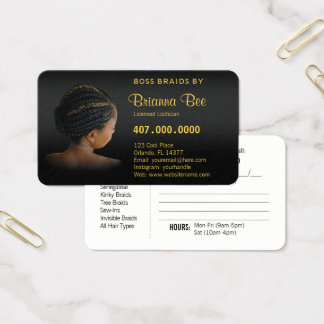 Afroamerikaner-Flechtmaschinen-Borten Visitenkarte