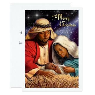 Afroamerikaner-Geburt Christis-Kunst-flache 12,7 X 17,8 Cm Einladungskarte