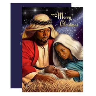 Afroamerikaner-Geburt Christis-Kunst-flache Karte