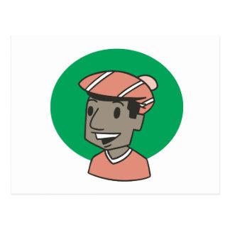 Afroamerikaner-Golfspieler Postkarte