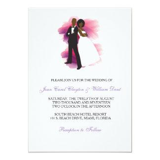Afroamerikaner-Hochzeits-Einladung Karte