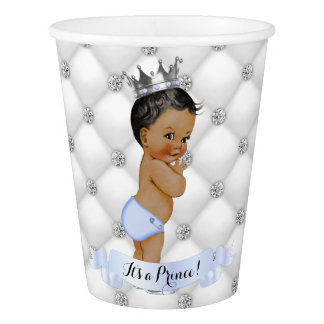 Afroamerikaner-kleiner Prinz Diamonds Blue Pappbecher
