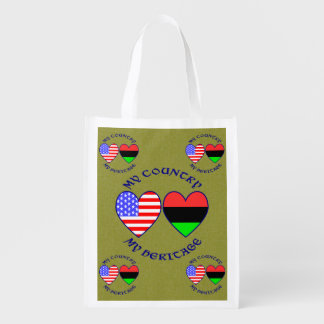 Afroamerikaner mein Land mein Erbe Wiederverwendbare Einkaufstasche