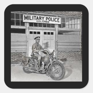 Afroamerikaner-Militärpolizei Quadratischer Aufkleber