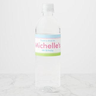Afroamerikaner-Prinzessin-und Drache-Geburtstag Wasserflaschenetikett