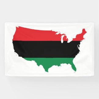 Afroamerikaner _rote, schwarze u. grüne Farben Banner