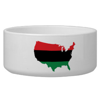 Afroamerikaner _rote, schwarze u. grüne Farben Napf