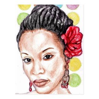 Afroamerikaner-Schönheit Postkarte
