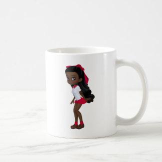 Afroamerikaner schoolg Mädchen Kaffeetasse