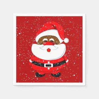 Afroamerikaner-Weihnachtsmann-Weihnachtsfeiertag Servietten