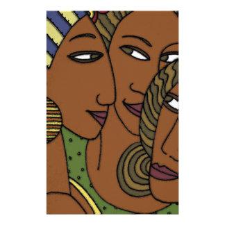 Afroamerikanerfrauen-Schwesterfreunde Briefpapier