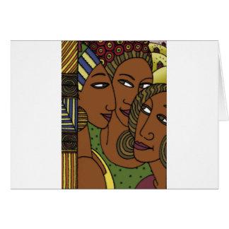 Afroamerikanerfrauen-Schwesterfreunde Karte