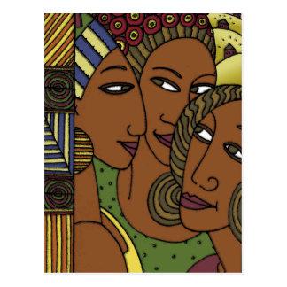 Afroamerikanerfrauen-Schwesterfreunde Postkarte