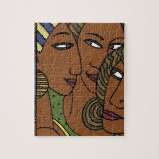 Afroamerikanerfrauen-Schwesterfreunde Puzzle