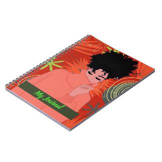 Afroamerikanerfrauen-Zeitschriftennotizbuch Notizblock