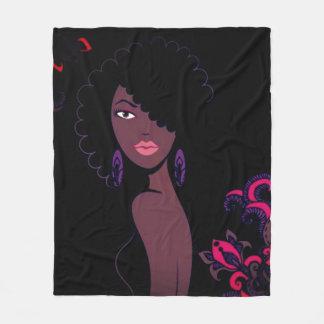 Afrocentric Schönheits-Decke Fleecedecke