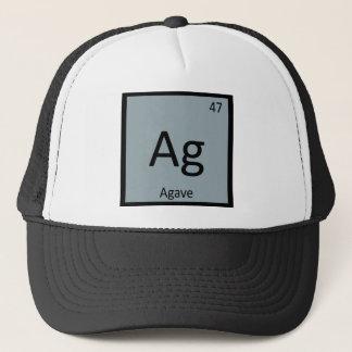 AG - Agaven-Nektar-Chemie-Periodensystem-Symbol Truckerkappe