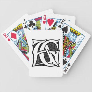 AG-Monogramm - Initialen AG in den gotischen Bicycle Spielkarten
