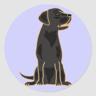 AG, schwarze runde Aufkleber Labradors