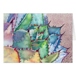 Agave Watercolorkarte durch Debra-Lee Baldwin Karte