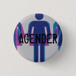 Agender Knopf Runder Button 2,5 Cm