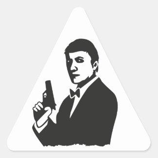 Agent Dreieckiger Aufkleber