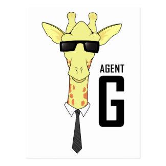 Agent G für Giraffe Postkarte