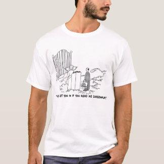 Agent im grundlegenden T - Shirt der