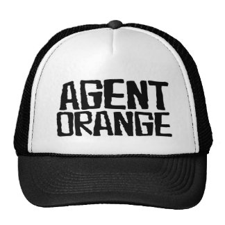 """Agent-orange """"geschlagene"""" Logo-Punkhut-Skate Kappen"""
