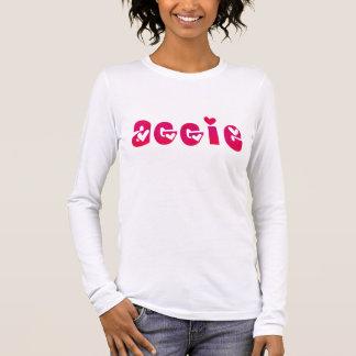 Aggie in den Herzen Langarm T-Shirt