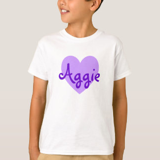 Aggie in Lila T-Shirt