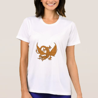 Aggressiver Drache-duckendes Zeichnen T-Shirt